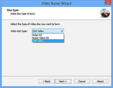 Choose Video Disc Type