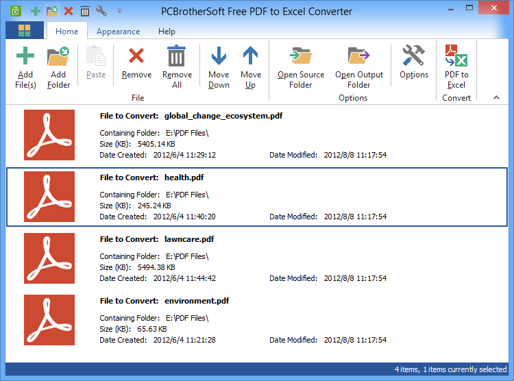 Free PDF to Excel Converter